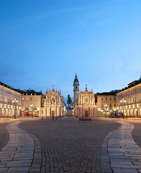 One of Turin's most beautiful spots, Piazza San Carlo.