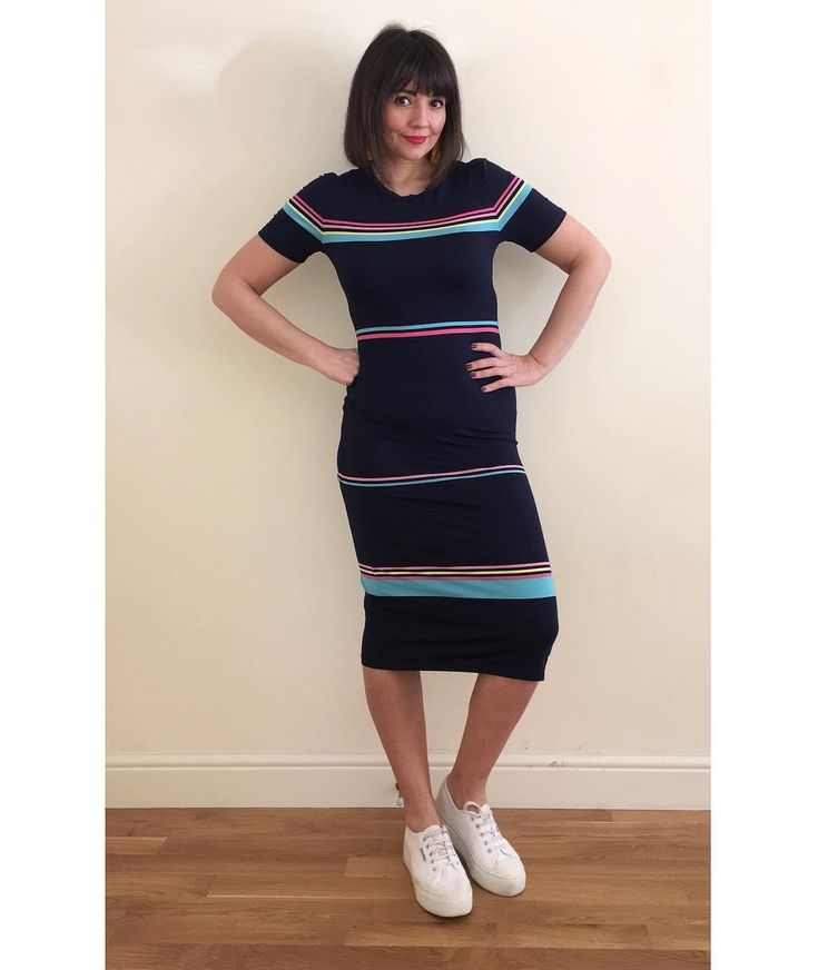 Our Rainbow Stripe Dress, featured by @40notfrumpy on Instagram. Click the image to shop the look #oasisfashion
