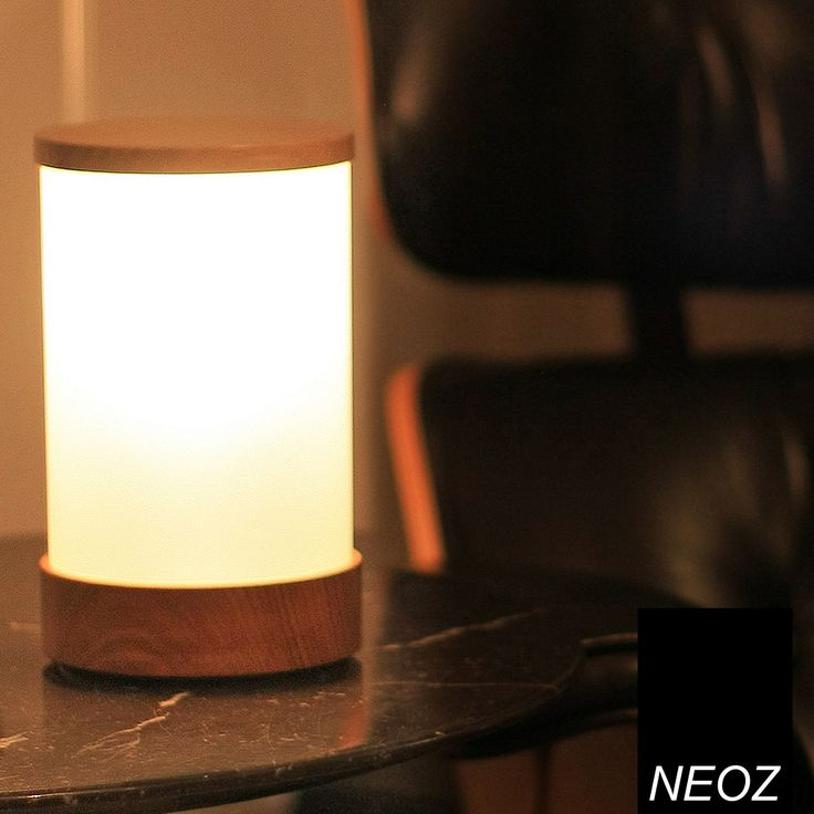 Neoz Wood Cordless Table Lamp 1W LED made of fine Australian native wood and frosted acrylic diffuser for ambient lighting