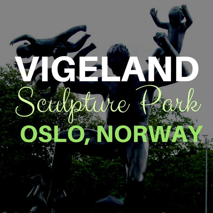 "VIGELAND SCULPTURE PAR, OSLO - THE STATUE ""MAN FIGHTING FOUR GENIUSES', WHICH IS A STATUE OF A MAN KICKING BABIES, UNBRIGHTENED WITH TEXT OVER THE TOP IN BOLD AND SCRIPT VIGELAND SCULPTURE PARK, OSLO, NORWAY"