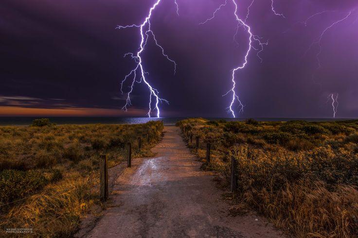 Lightning Show by Michael Waterhouse