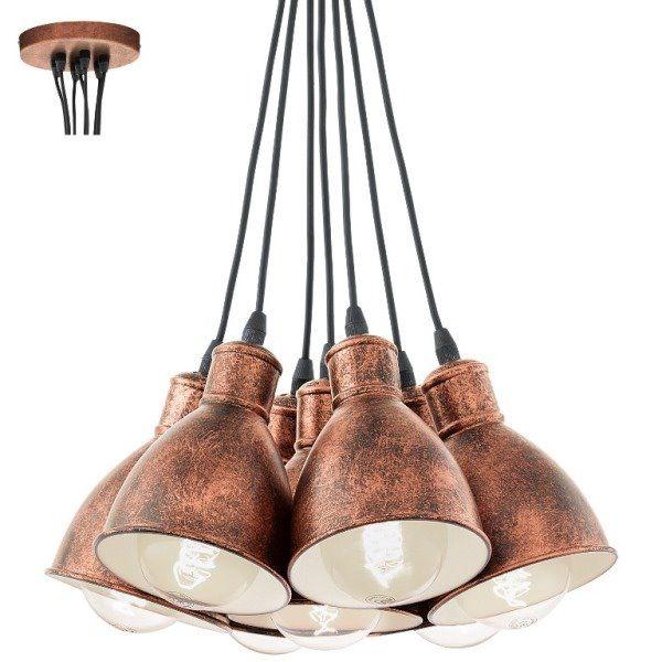 Eglo Vintage Lampa wisząca Priddy 49494 : Kolekcja Vintage : Sklep internetowy Elektromag Lighting #copper #lamp