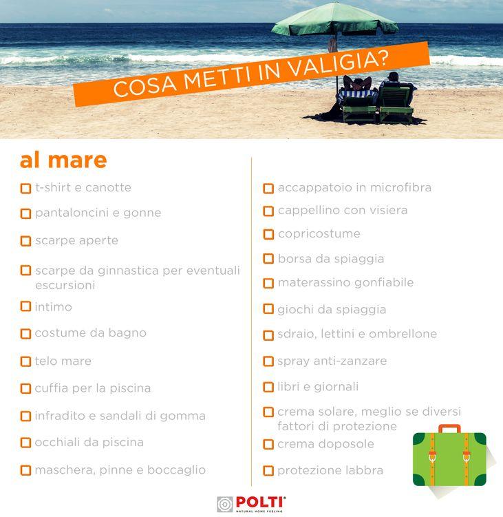 IN VACANZA AL MARE. Scarica gratis la nostra checklist per fare la valigia al volo.