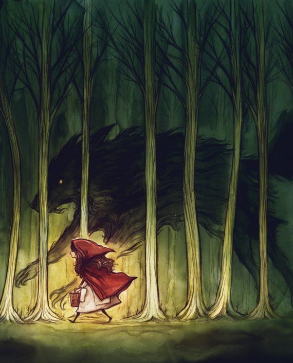 Little Red Riding Hood -- I have an inexplicable urge to get this across my upper back. Won't do it, but still...