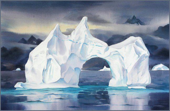 Iceberg, Eastern Greenland #2 (David McEown). Watercolour ...