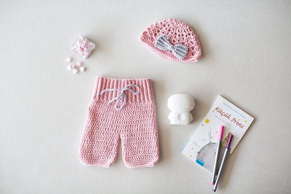 Crochet Baby Pants And Hat Set, Newborn set