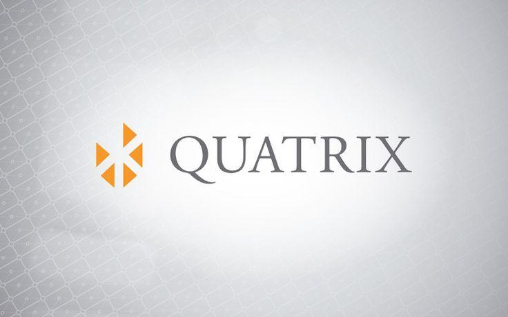 quatrix corporate logo linear positive
