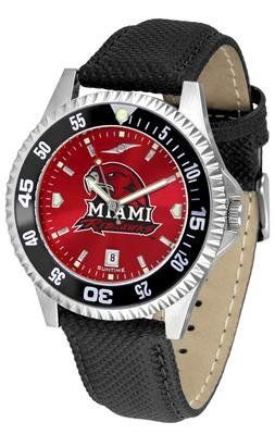 Miami University Of Ohio Redhawks Competitor Anochrome- Poly/leather Band W/ Colored Bezel - Men's - Men's College Watches by Sports Memorabilia. $78.73. Makes a Great Gift!. Miami University Of Ohio Redhawks Competitor Anochrome- Poly/leather Band W/ Colored Bezel - Men's