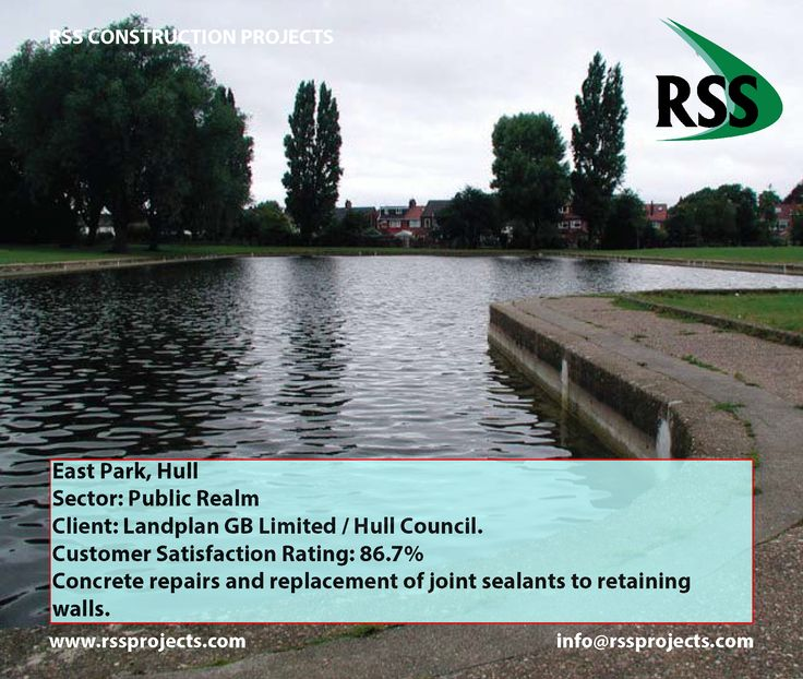 Concrete Repairs and Replacement of Joint Sealants to Retaining Walls. http://www.rssprojects.com/Case Studies/east-park-hull