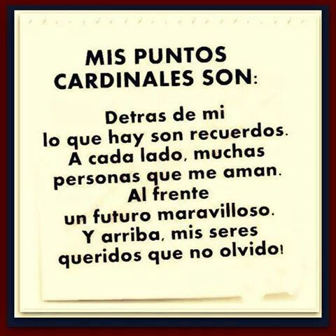 MIS PUNTOS CARDINALES SON..