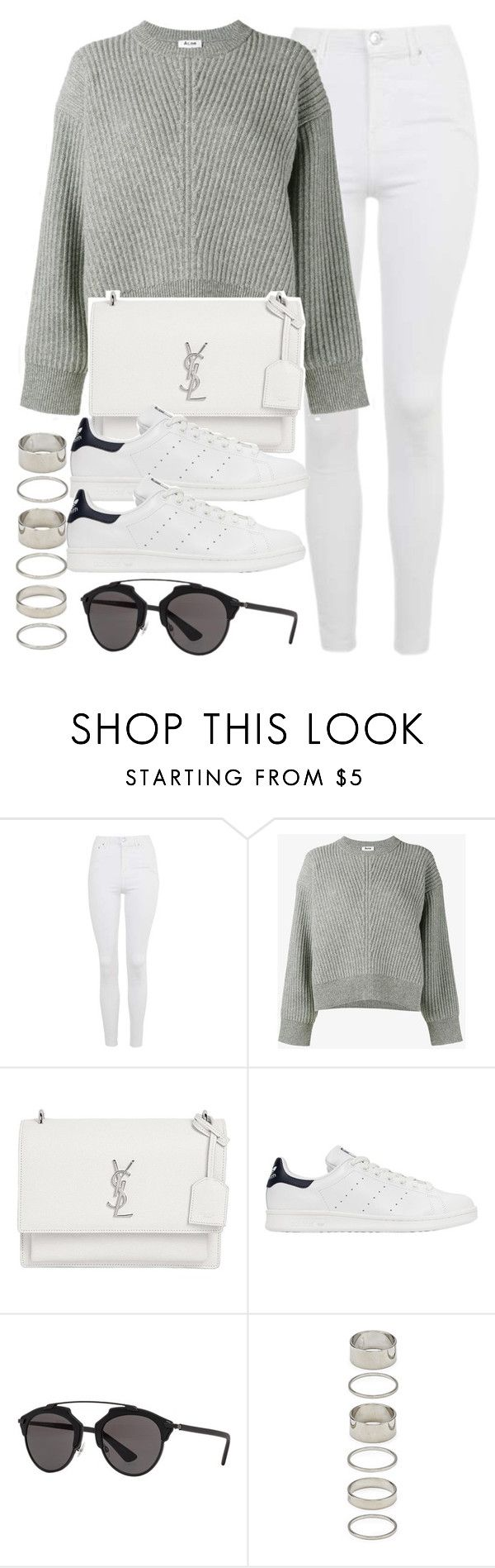 """""""Sin título #11973"""" by vany-alvarado ❤ liked on Polyvore featuring Topshop, Acne Studios, Yves Saint Laurent, adidas Originals, Christian Dior and Forever 21"""
