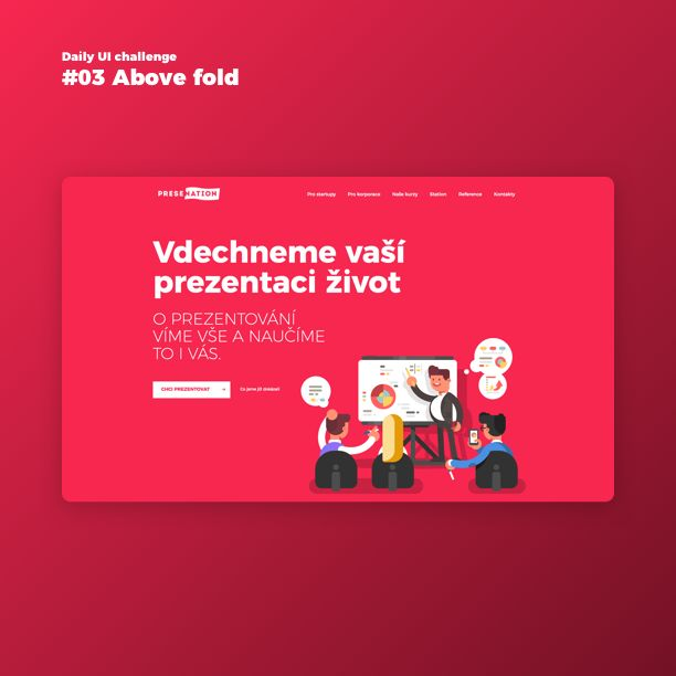 Day 3/100 - Above fold content :) Let me show you design which I made during the summer for a great company from Prague :)  Bubbles and hands of ppl are moving on the web :) Leave a comment with your opinion