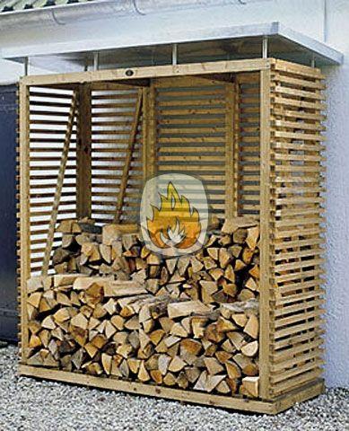Houtopslag designmodel | tuinhaardenwinkel.nl Dit is een luxe uitgevoerde haardhoutopslag. Uitgevoerd in geimpregneerd hout met een zinken dak.