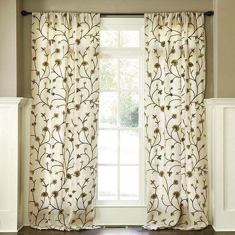 Nice Poisitano Burlap Crewel Panel   Traditional   Curtains   By Ballard Designs