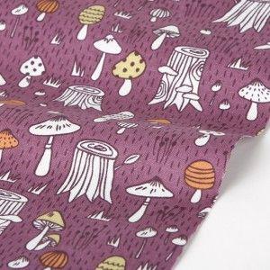 Fairyland Mushroom Purple- 100% Cotton