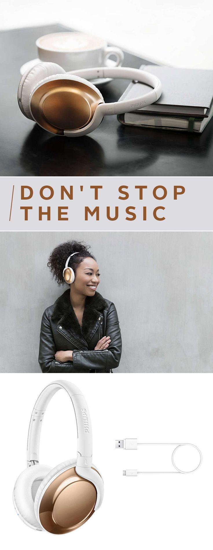 Der Sound? Kristallklar! Das Design? Edel und modern! Das Gewicht? Ultraleicht! Der zusammenklappbare Over-Ear-Bluetooth-Kopfhörer von Philips macht dich einfach in allen Bereichen kabellos glücklich! Für alle, die Style und Technik lieben!