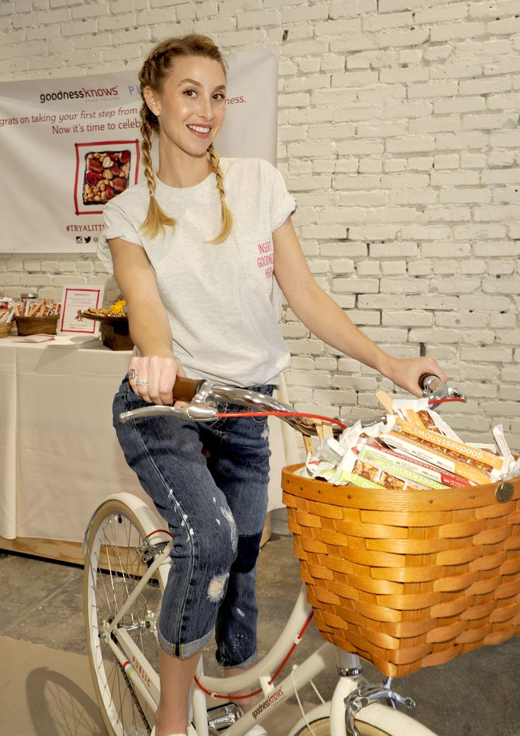 """Gear Up and Go for Bike to Work Day with goodnessknows snacks squares and Whitney Port"""