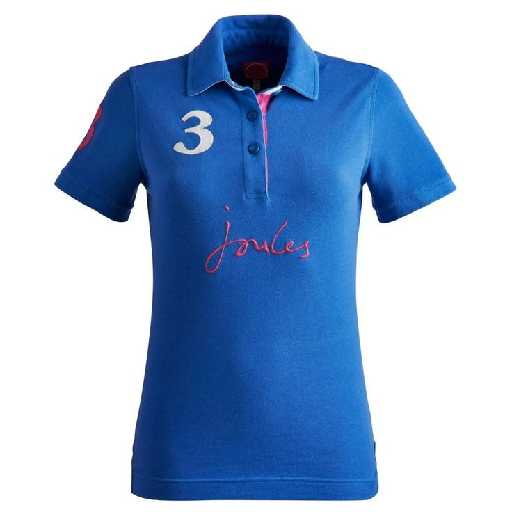 Joules Ladies Just Joules Polo Shirt Midnight Blue | Naylors.com