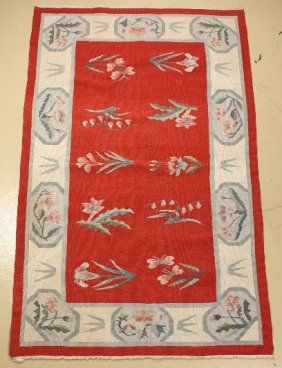 A Bessarabian Kilim Wool Rug. : Lot 268 3 x 5