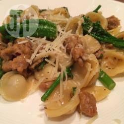 Foto recept: Pasta met pittige worst en broccoli