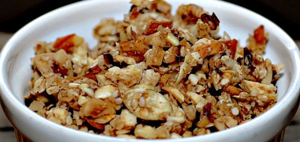 Crunchy Gluten-free Granola: For this delicious recipe visit: http://www.inspirehealth.ca/recipes/2012/11/crunchy-gluten-free-granola