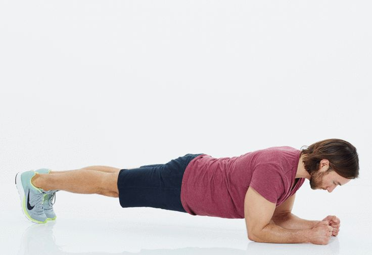 This page has a 15-minute HIIT (High-Intensity Interval-Training)  that will build STRENGTH FAST!! (Including the move shown above: The Plank Pike)