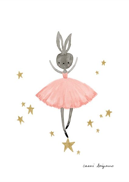 An adorable print for little ballerina's or for a little girl's nursery.