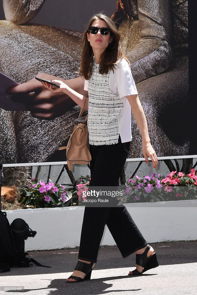 News Photo : Charlotte Casiraghi is spotted during the 70th...