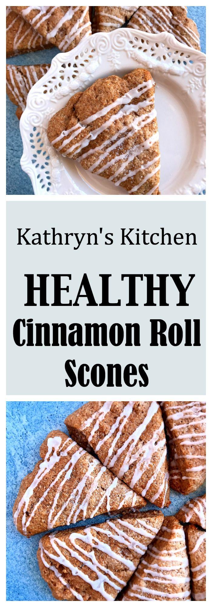 Healthy Cinnamon Roll Scones// Kathryn's Kitchen Blog