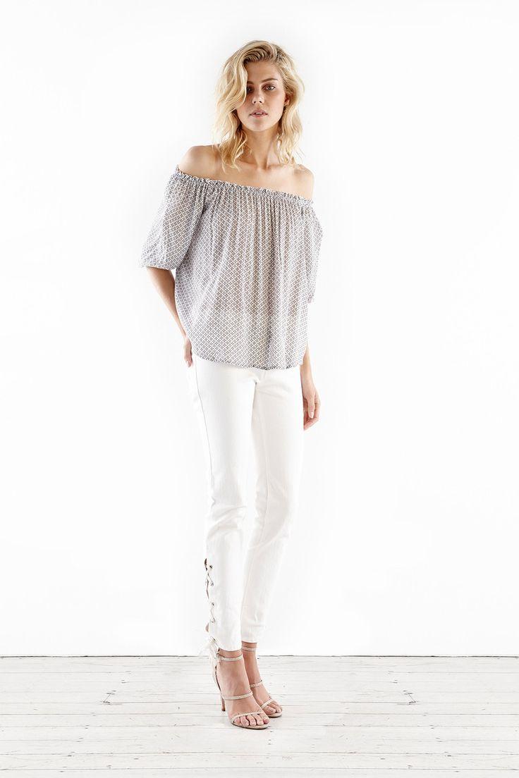 Steele - Tierra Tie Jeans In White