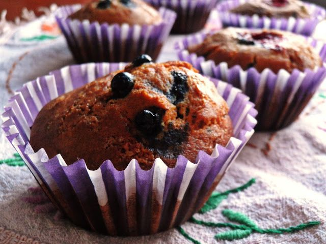 made by MN: Muffiny z jagodami (bezglutenowe)