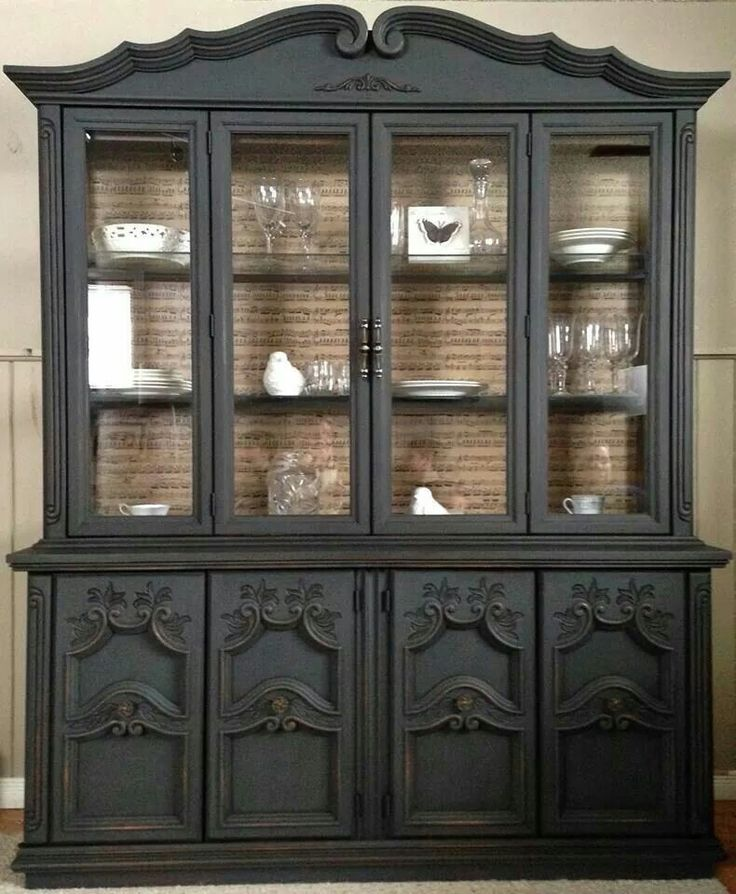 1000 ideas about refinished china cabinet on pinterest for Painted dining room hutch ideas