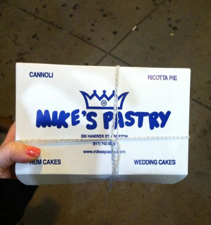 Mike's Pastry in Boston, MA.