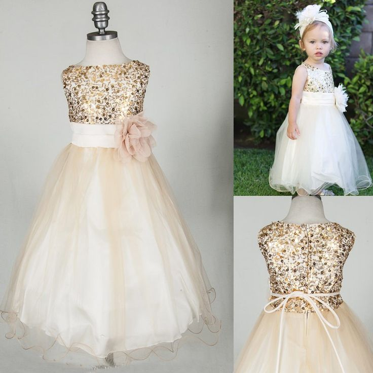 Best 25  Champagne flower girl dresses ideas only on Pinterest ...