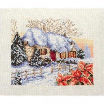 Borduurpakket Winter Cottage - Anchor