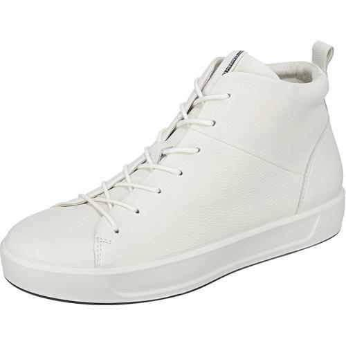 #ECCO #Damen #Soft #8 #Sneakers #weiß Die ecco Soft 8 Sneakers zeigen sich in einemhohen Schnitt, der von der Laufsohle mit dezentem Plateau stimmig ergänzt wird. Das Obermaterial, das Futter und die herausnehmbare Decksohle bestehen aus echtem Leder und sorgen für ein angenehmes Tragegefühl.
