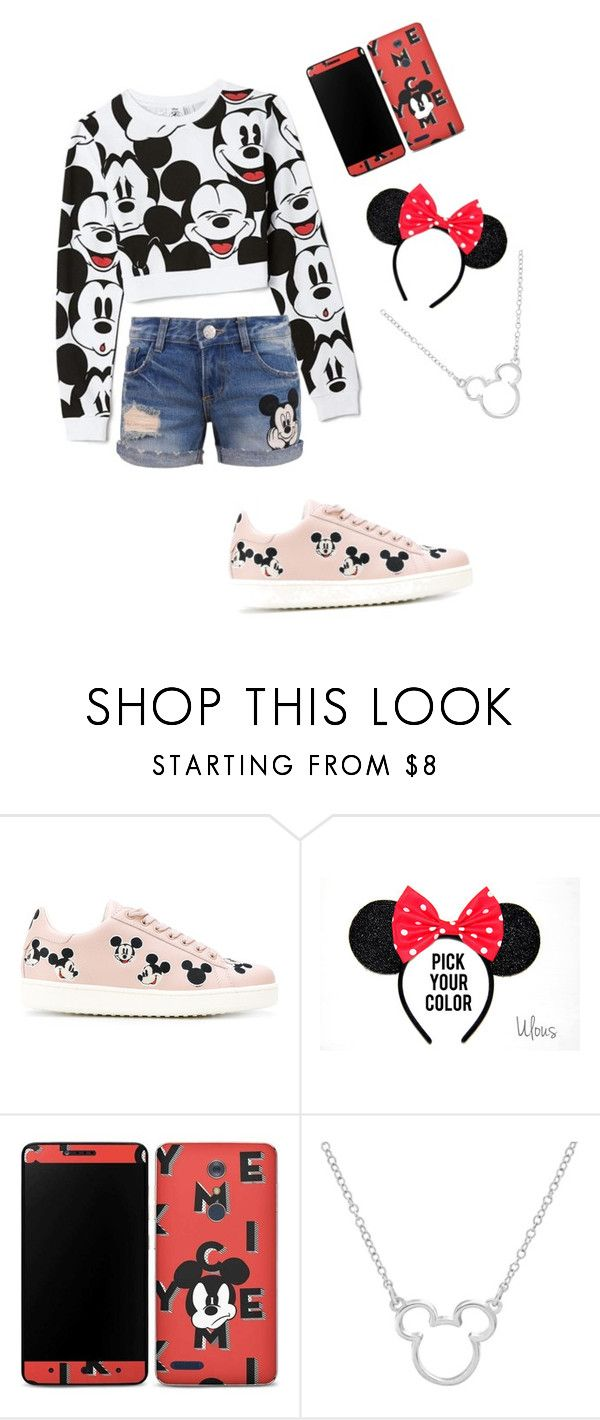 """""""mickey mouse"""" by lisa-church ❤ liked on Polyvore featuring Forever 21, Disney and Moa'"""