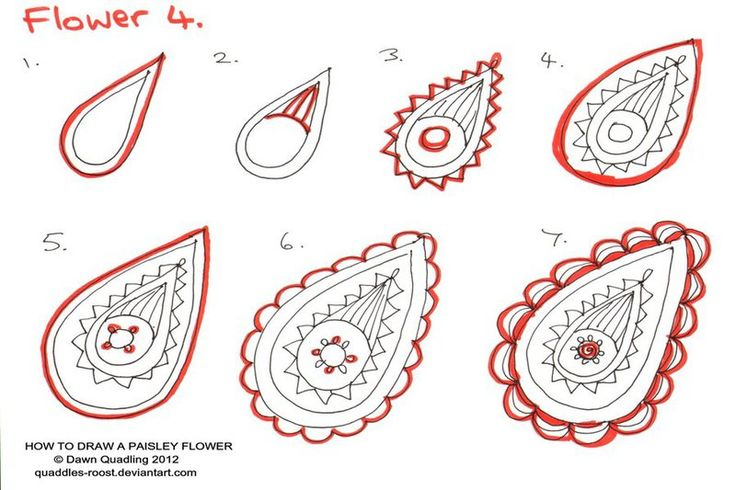 How to draw Paisley Flower 04 Promise by Quaddles-Roost.deviantart.com on @deviantART