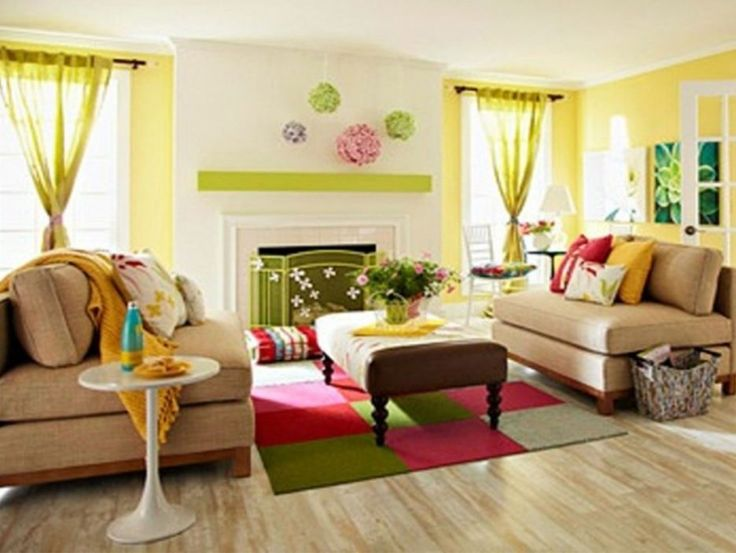 Pleasant Living Room Colors Ideas featuring Brown Color Sofa and ...