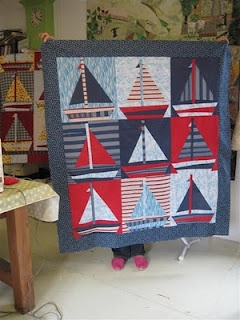 Sailboat quilt.. too cute
