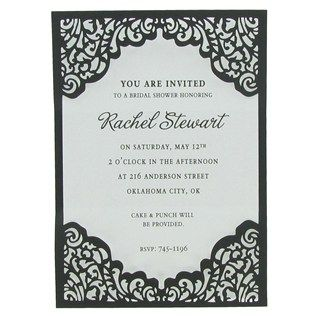 Bag Of Chips Silver Laser Cut Invitations With Black Sleeve | Shop Hobby  Lobby