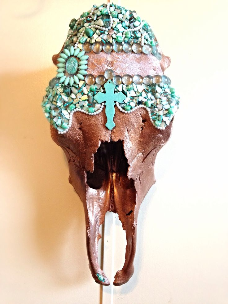 Cow Skull! Fence Line Creations, western decor.