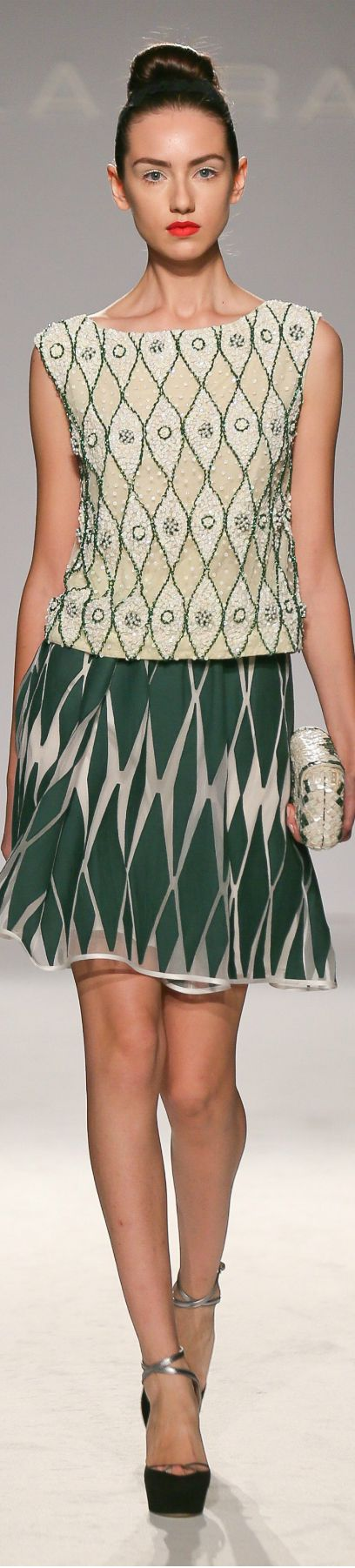 I like the top...skirt doesn't go with it per my taste...Paola Frani ● Spring Summer 2014