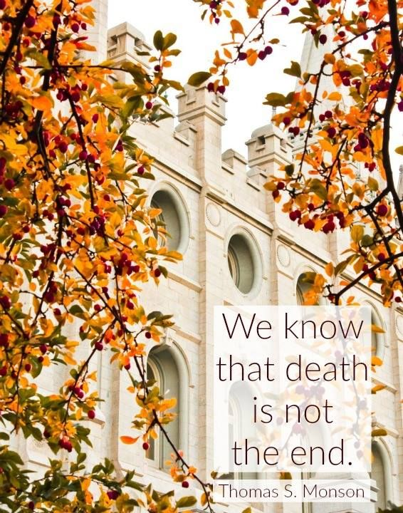 """""""Every thoughtful person has asked himself the question best phrased by Job of old: 'If a man die, shall he live again?' My brothers and sisters, we know that death is not the end. This truth has been taught by living prophets throughout the ages."""" From #PresMonson's http://pinterest.com/pin/24066179228814793 inspiring #LDSconf http://facebook.com/223271487682878 message http://lds.org/general-conference/2012/04/the-race-of-life #ShareGoodness"""