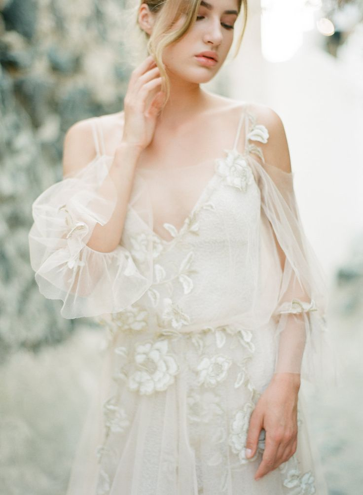 Choose soft luxurious fabrics this season for the perfect ethereal wedding look | Destination weddings