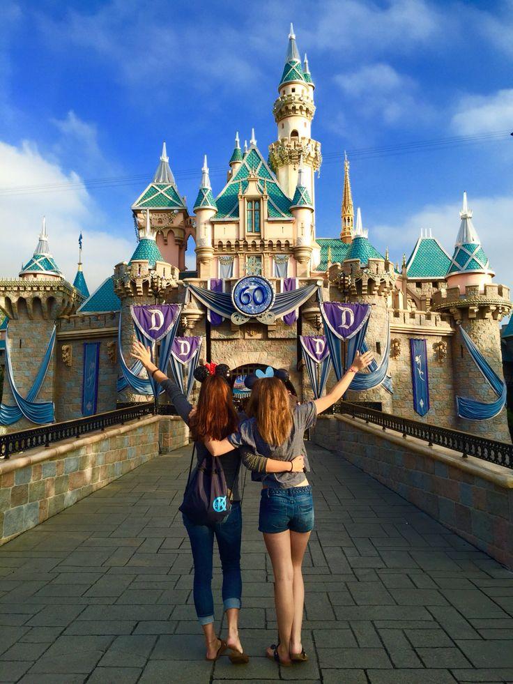 Disneyland Poses with Best Friend