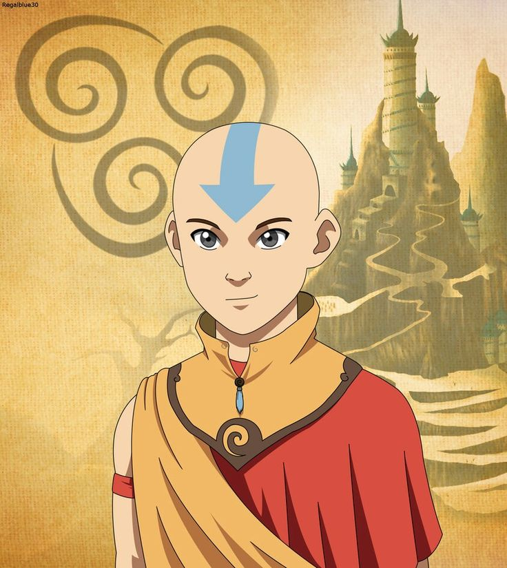 Avatar Aang in the Southern Air Temple