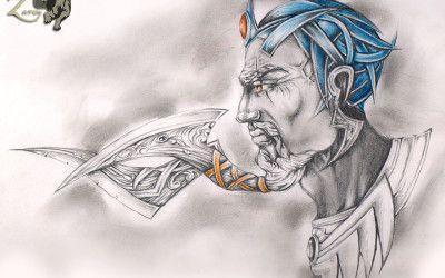 Beard sword blue king.