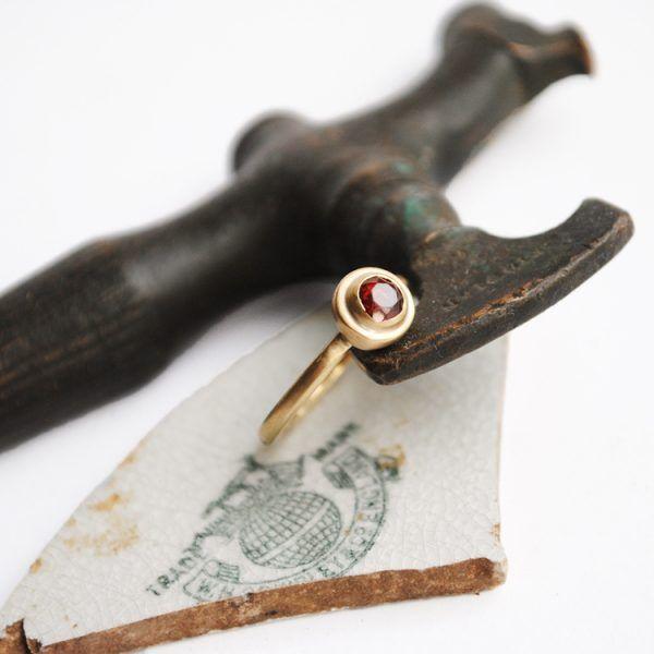 Ruby 9ct gold ring made in Adelaide Australia www.glacierjewellerydesign.com.au