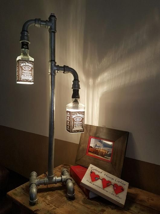 Bar Pride - Galvanise Pipe Lamp - Aluminium Flanges